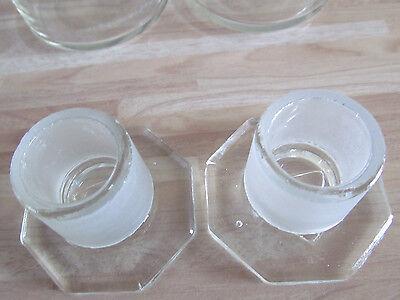 2 Stück Assistent Glas Gläser NS 34,5 W.Germany Normschliff 3