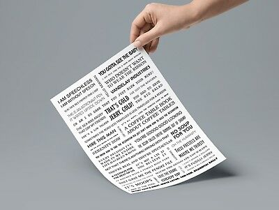 Seinfeld Quotes Poster A4 9