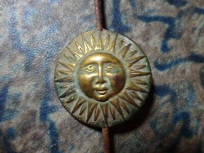 A Unique and Rare Continental Mantel Clock Pendulum Brass Sun Face Antique 7
