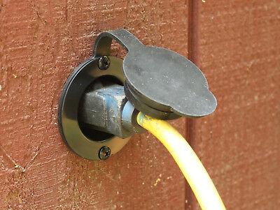 "JourneymanPro 15 Amp 125V AC Power Inlet Port Plug Integrated 20"" Cord 5278 GCP1"