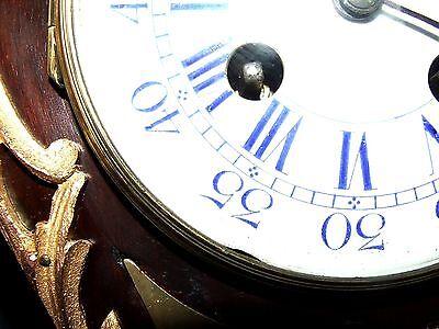 French Antique Mahogany and Ormolu Bracket / Mantel Clock : JAPY FRERES & CIE