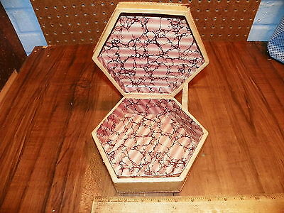 Vintage Hand-Tooled Leather Covered Dresser Box - Made In Morocco 3