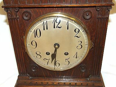 Antique LENZKIRCH Carved Oak Bracket Clock : CLEANED AND SERVICED 5