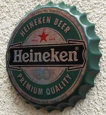 HEINEKEN Beer Amsterdam Geprägtes Blechschild MAKELLOS Bier Brauerei  KULT MARKE 11