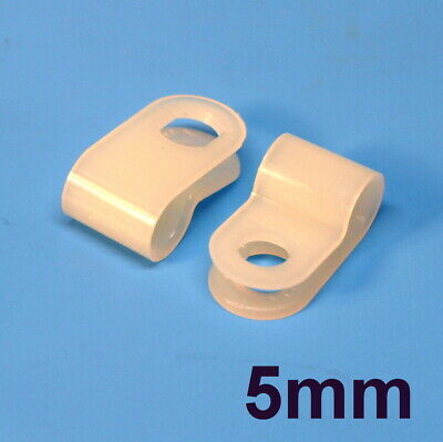 High Quality Assorted Box of White Natural Nylon Plastic P Clips - 200 Pieces 2
