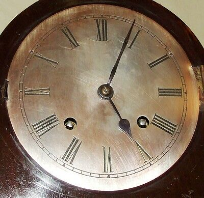 Antique Mahogany Bracket Mantel Clock : Strikes on Hour & Half Past 8