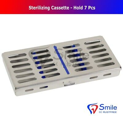7 Instruments Dental Surgical Sterilization Autoclave Cassette Tray Stainless CE 3