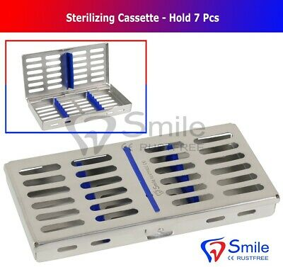 7 Instruments Dental Surgical Sterilization Autoclave Cassette Tray Stainless CE 2