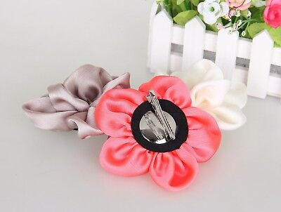 Haarblume SATIN KLEIN 20 Farben Haarblüte Ansteckblume Stoffblume Haarspange 3