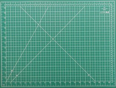 A2 5-Ply Self Healing Craft Cutting Mat 2-Sided Print Quilting – Scrapbooking 5
