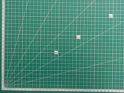 A2 5-Ply Self Healing Craft Cutting Mat 2-Sided Print Quilting – Scrapbooking 3