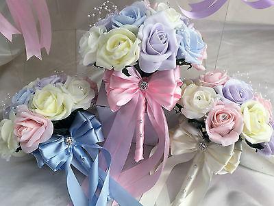 Fiori Matrimonio Luce colori pastello/Colori Arcobaleno Spose, Damigella, asole 3