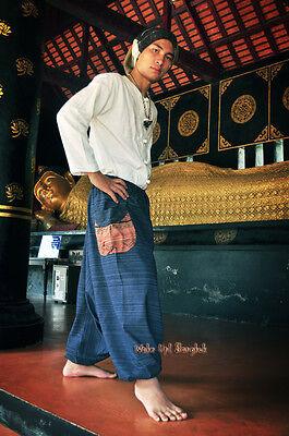 Hmong Haremshose Aladdin Goa Harem - 100% Baumwolle - Dunkelblau 1502 2
