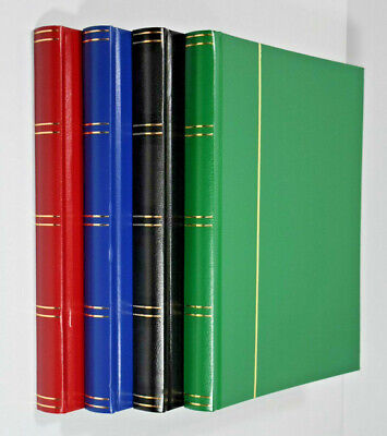 Large A4 Stockbook - Stamp Album 32 Black Pages - Hardback Cover 2