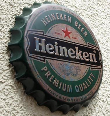 HEINEKEN Beer Amsterdam Geprägtes Blechschild MAKELLOS Bier Brauerei  KULT MARKE