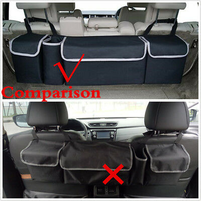 Black High Capacity Multi-use Car Seat Back Organizers Bag Interior Accessories 8