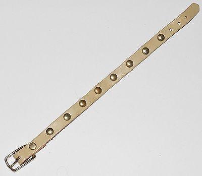 Original Steiff Zubehör Leder Halsband beige ca. 16cm lang