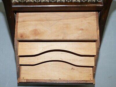 Victorian Mahogany Piano Stool Bauhaus Upholstery Internal Music Storage Drawer 11