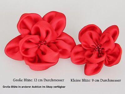 Haarblume SATIN KLEIN 20 Farben Haarblüte Ansteckblume Stoffblume Haarspange 2