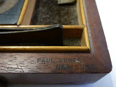 Apothekergewichte Feingewichte Gewichtssatz im Kasten Paul Bunge Hamburg um 1870 4