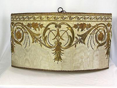 Chandelier Hanging Shade Pendant Light 1930s Antique Fabric Repurposed Custom 3
