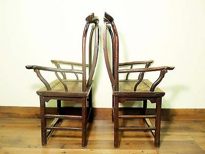 Antique Chinese High Back Arm Chairs (5701), Circa 1800-1849 12