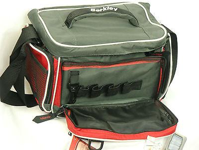 Berkley Red Fishing Tackle Bag W// 4 Medium Utility Boxes Fresh /& Salt Water 5A1