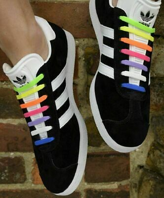 Elastic Silicone Shoelaces Shoe Lace Easy No Tie Kids Adult Lazy Trainers Rubber 5