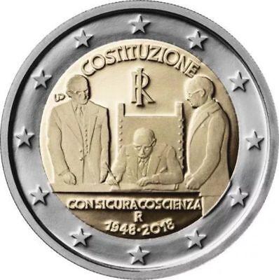 2 Euro Commemorativa Italia 2018 - 70° Della Costituzione - Cc - 3