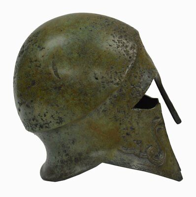 Corinthian Bronze helmet with Snakes - Ancient Greece - Small size 4