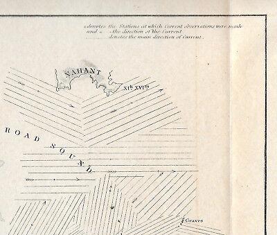 1851 Original Map Superintendent Of Us Coast Guard Survey Boston Harbor 8