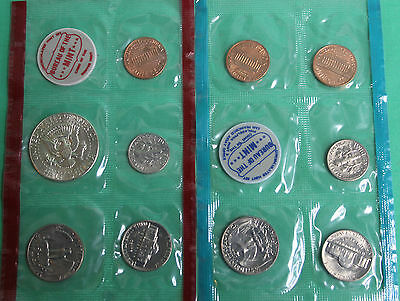 1970 P and D US Mint Annual Uncirculated 10 Coin Set with 40% Silver Kennedy