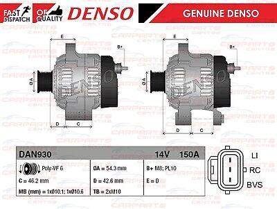 Alternador VOLVO C30 C70 S40 V50 1.6D 2.0D D2 D3 D4 Nuevo Alternador 150 Amp