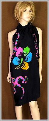 Sarong Pareo Strandkleid Batik Tuch Wandtuch Stola Schals Damenmode bunt Sommer