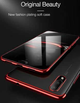 For Huawei P20 Pro P Smart Stylish Hybrid Shockproof Plating Case Silicone Cover 7