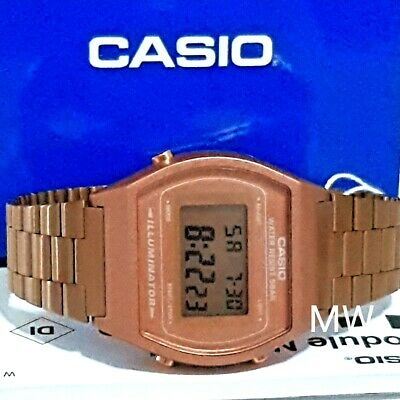 New Casio Vintage Rose Gold Digital Stainless Steel Watch B640WC-5ADF B640WC-5A 3