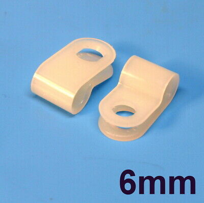 High Quality Assorted Box of White Natural Nylon Plastic P Clips - 200 Pieces 3