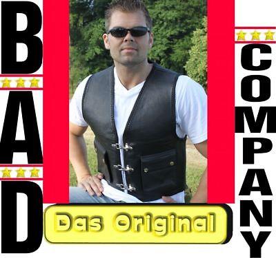 KUTTE das Original Kai Bikerkutte von Bad Company schwarz Lederkutte Rocker 9