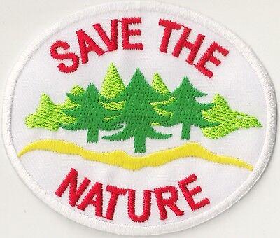 Écusson patche hotfix Save The Nature patch ecolo badge thermocollant 2