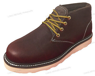 816ad2f2ab48 ... New Men s Chukka Boots Leather Wedge Tred Sole Lace Up Casual Shoes Size  6-