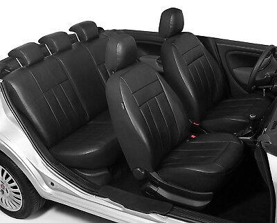 BMW E46 Maßgefertigte Kunstleder Sitzbezüge in Schwarz