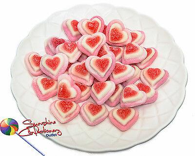 TRIPLE STRAWBERRY HEARTS - 370g - gummi, Gluten Free, Pink and White 2