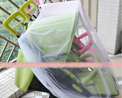Mosquito fly insect sun dust protect cover net mesh Twin Pram Stroller 3