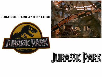 Jurassic Park Movie Logo Embroidered Iron-On Deluxe Patch Yellow New Patch 8