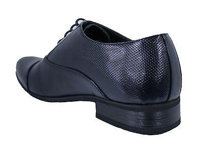 2 di 3 Eleganti Scarpe Uomo Class Blu Scuro Lucido Vernice Calzature Shoes  Ecopelle fc0ebf0fb75