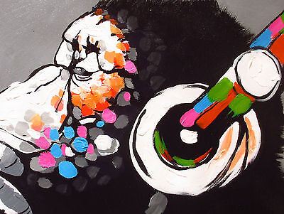 Art Painting Canvas Banksy original Street Print DJ Monkey chimp  70cm 4