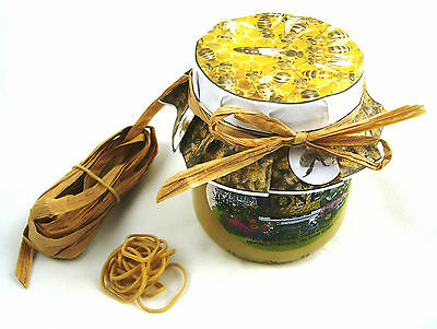 100 x Beekeeping HONEY JAR PAPERS - complete with rubber bands (25 of each) 6