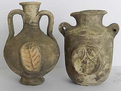 Biblical Ancient Antique Holy Land Roman Herodian Pottery Clay Wine Jugs Pitcher 3