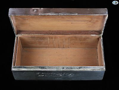 Large 1896 Antique Silver Box with Venus and Greek Mythology Scenes 2