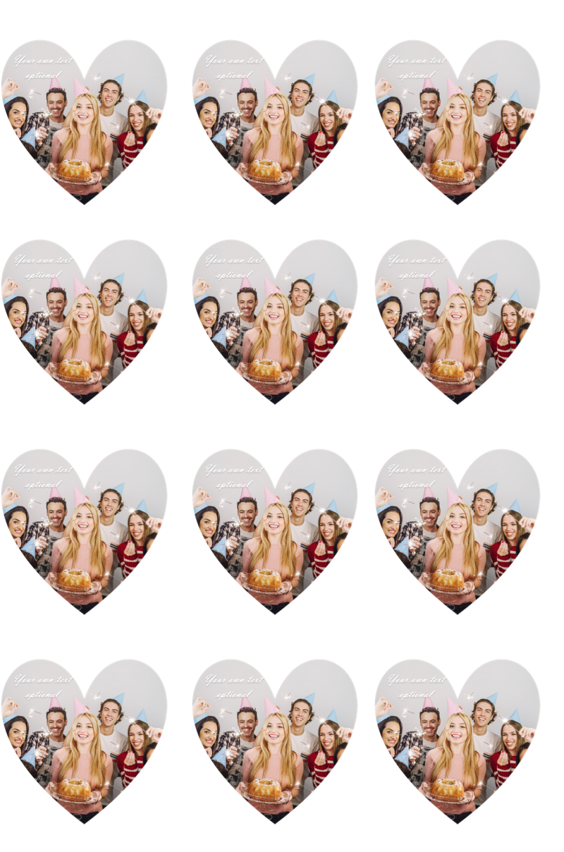 YOUR OWN EDIBLE PHOTO cupcake toppers ANY personalised image ICING OR WAFER 6